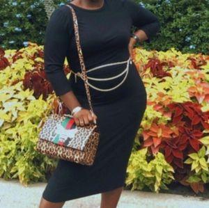 A New Day Women's Long Sleeve Rib Knit Dress